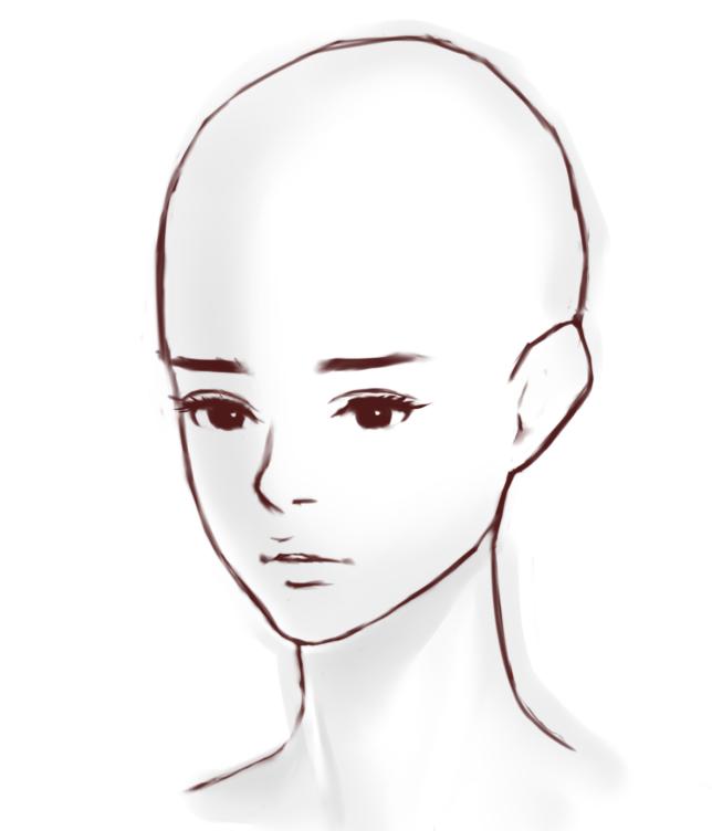 女の子の顔の描き方斜めアングルの顔を描くコツとは マエコの