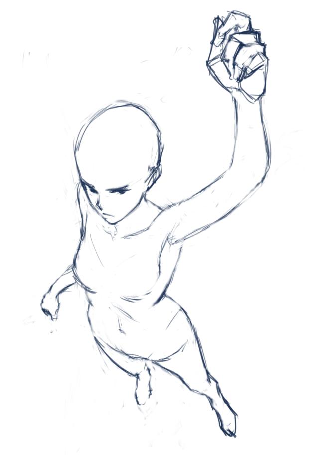 複雑なポーズ人体の描き方をマスターせよ空間把握が苦手