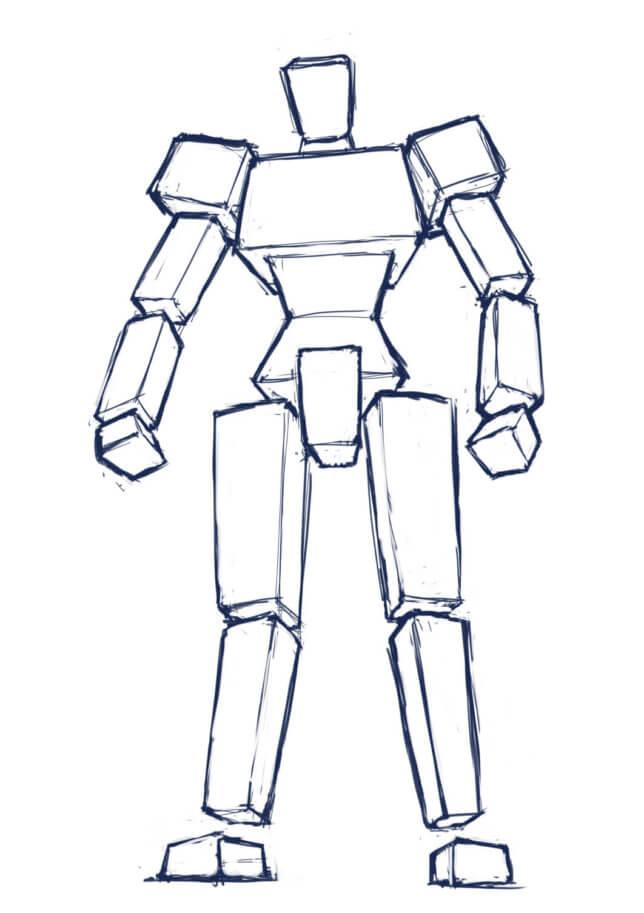 ロボットの描き方デッサン力立体把握力を向上させたい人にオススメの